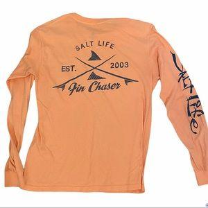 Salt life orange long sleeve tee shirt small